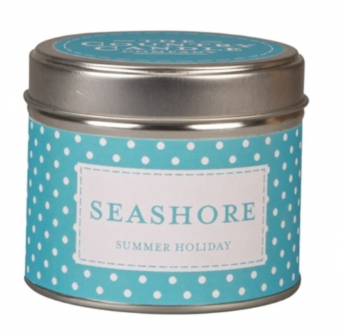 Seashore - Summer Holiday Candle In A Tin